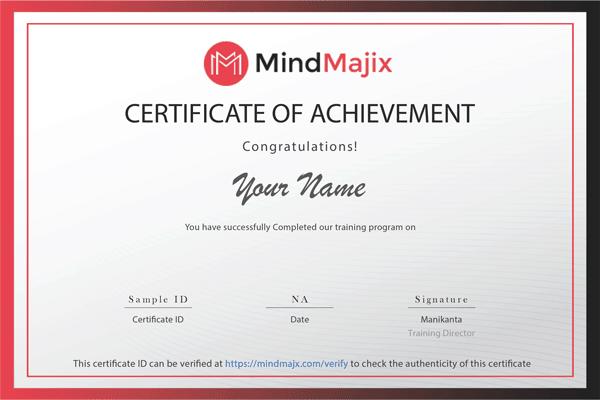 MindMajix certificate